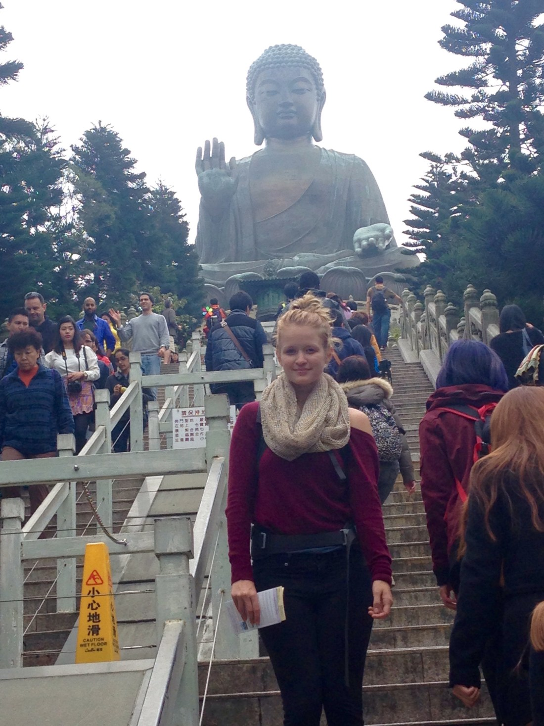 Visiting Buddha on Lantau Island