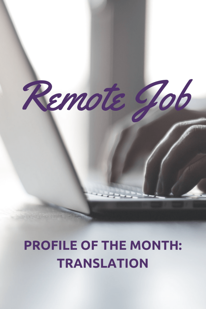 remote job of the month translation