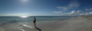 Panorama vom Strand