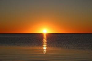 Sonnenuntergang an der Sandy Bay