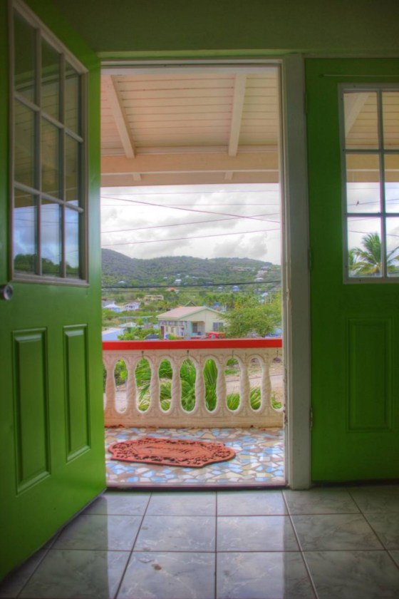 Blick aus der Haustür