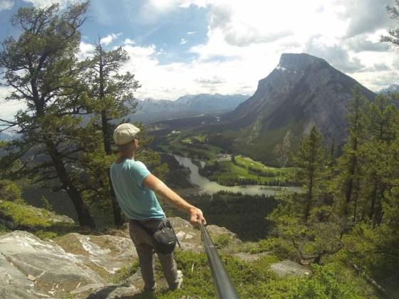 Der Blick vom Tunnel Mountain. Allerdings nicht über Banff sondern auf seine Rückseite