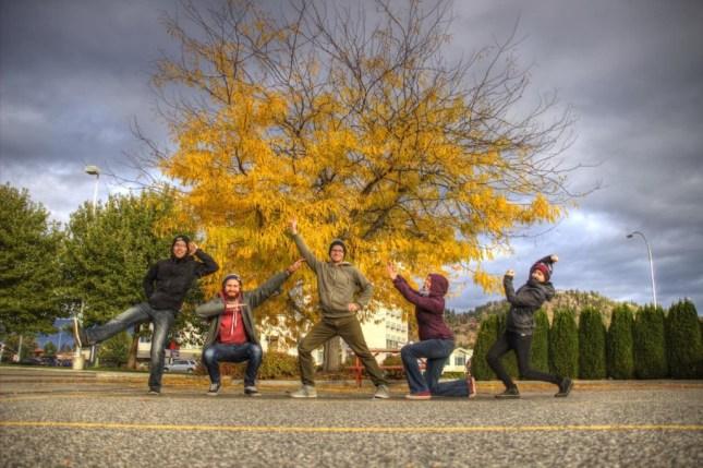 Unsere Truppe in Kelowna. von links: Jan, Thomas, Markus, Isabel und Sabrina