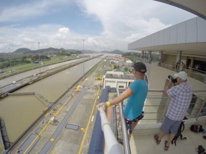 Selfie am Panama Kanal