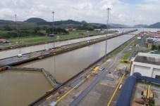 Der Panama Kanal von der Aussichtsplattform gesehen