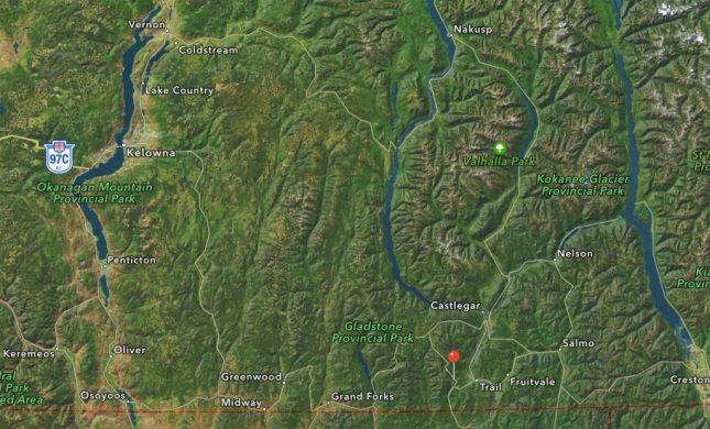 Karte zum RED Mountain Resort