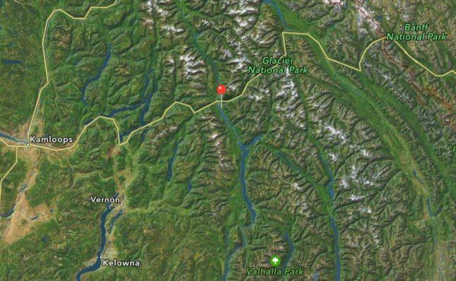 Karte zum Revelstoke Mountain Resort