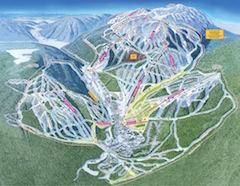 Karte von Sun Peaks