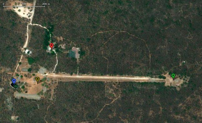 Karte der Dzibilchaltún Ruinenanlage. Mexico, Yucatan, Merida