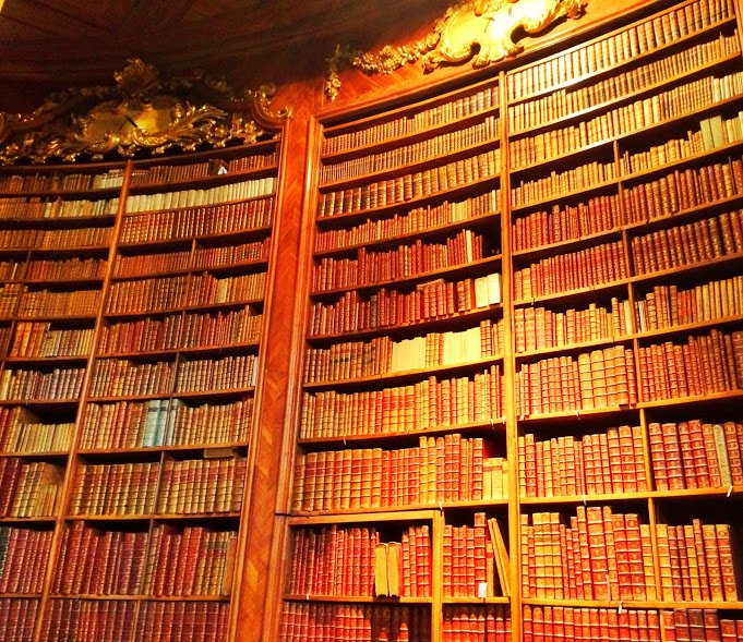 Old books, Vienna library