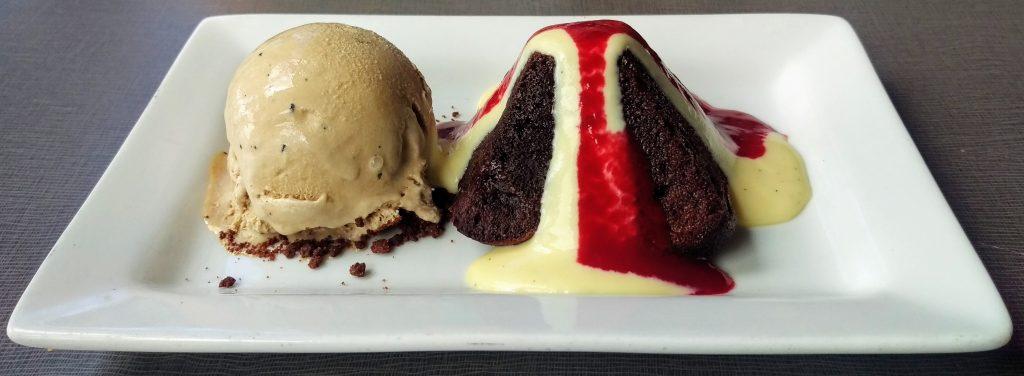 Chocolate lava cake at Hilo Bay Cafe