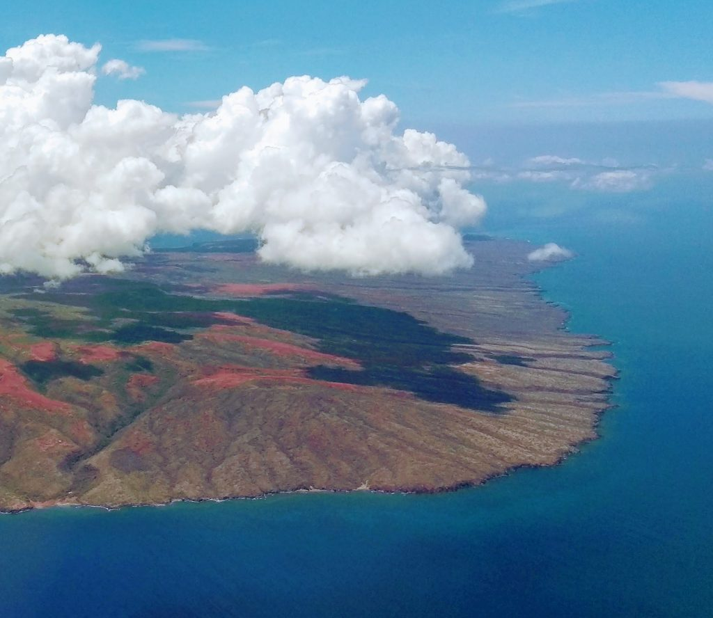 The Big Island from above