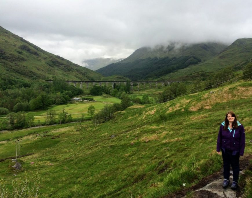 Standing near Glenfinnan Viaduct, Scotland