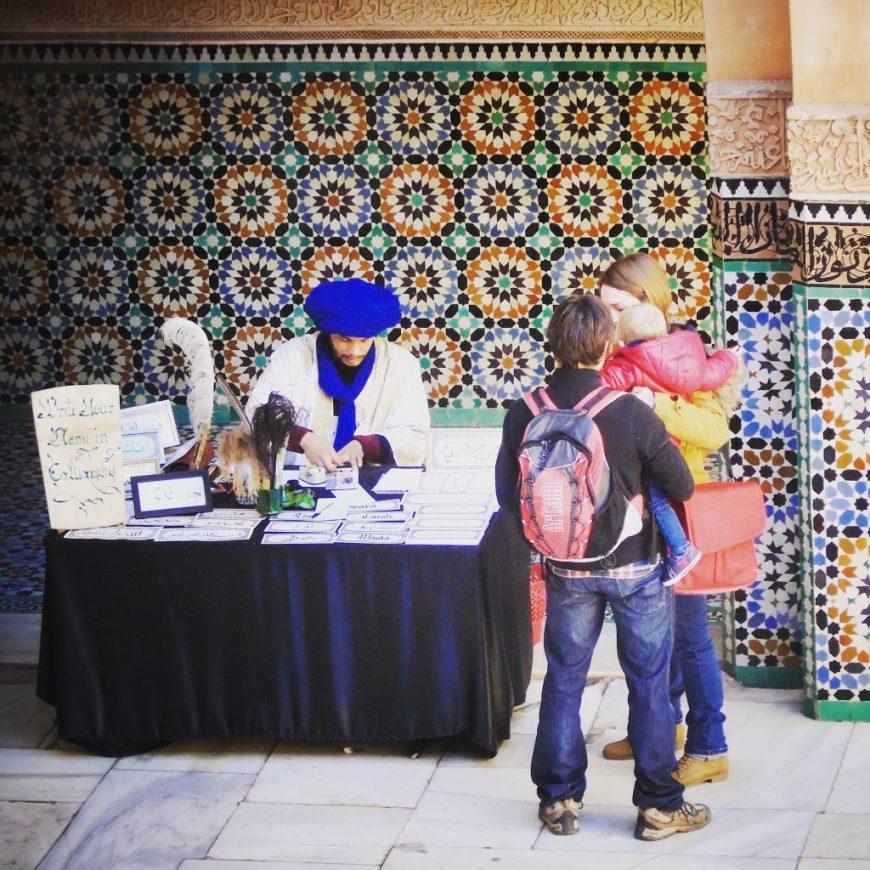 Morocco Caligraphy Merchant