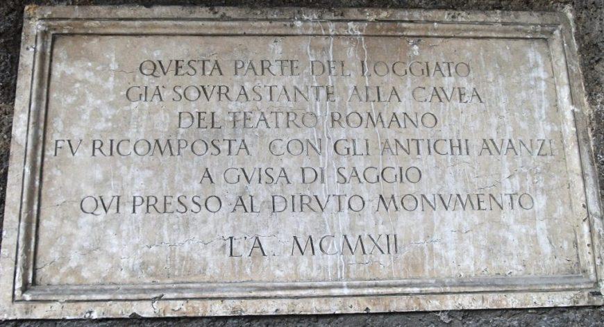 Old Latin sign, Verona, Italy