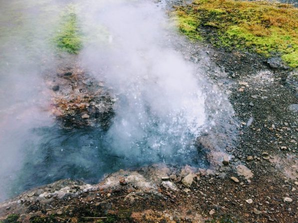 Hot springs near the Secret Lagoon