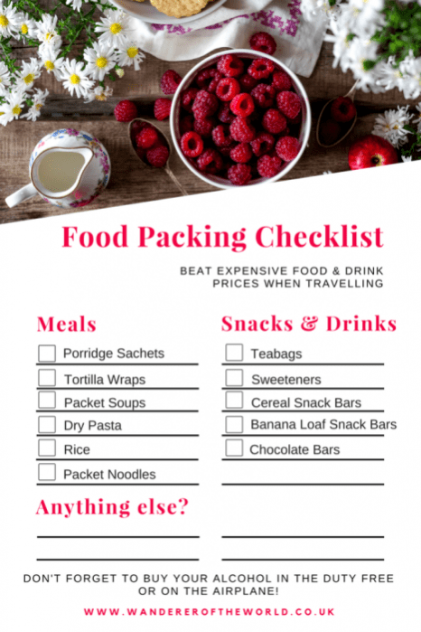 beat-expensive-prices-travelling-food-packing-checklist