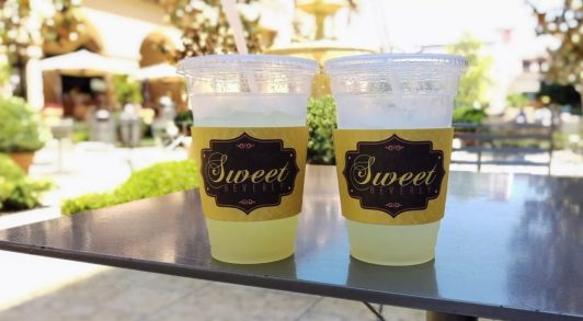 Lemonade drinks from Sweet Beverly near Rodeo Drive