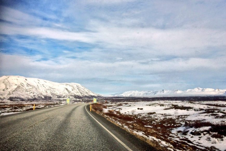 Driving in Iceland Road