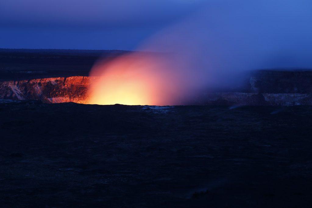 Kilauea's infamous night glow