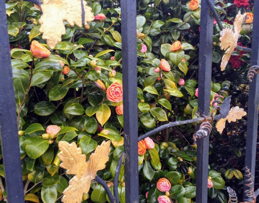 Golden Leaf Gates in Powerscourt Gardens, Ireland