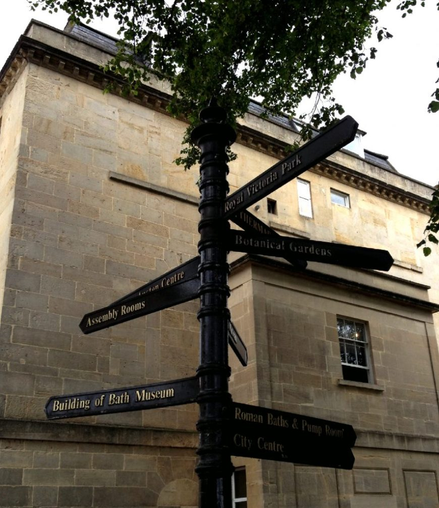 Bath Signpost