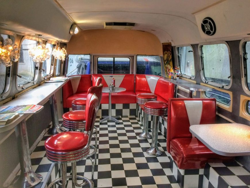 Fall in Love with Bristol: Tube Diner Food