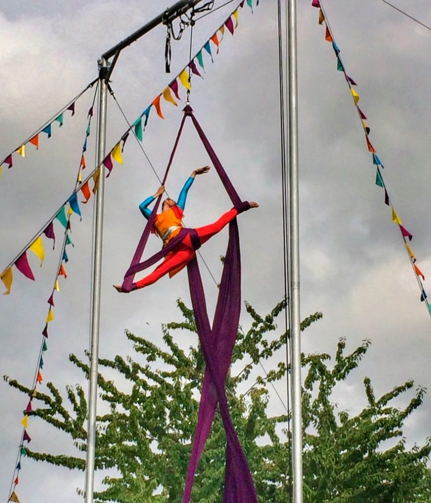 Fall in Love with Bristol: Circus Performer at the Harbourside Festival