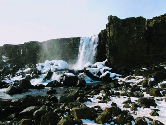 Öxarárfoss in Thingvellir National Park