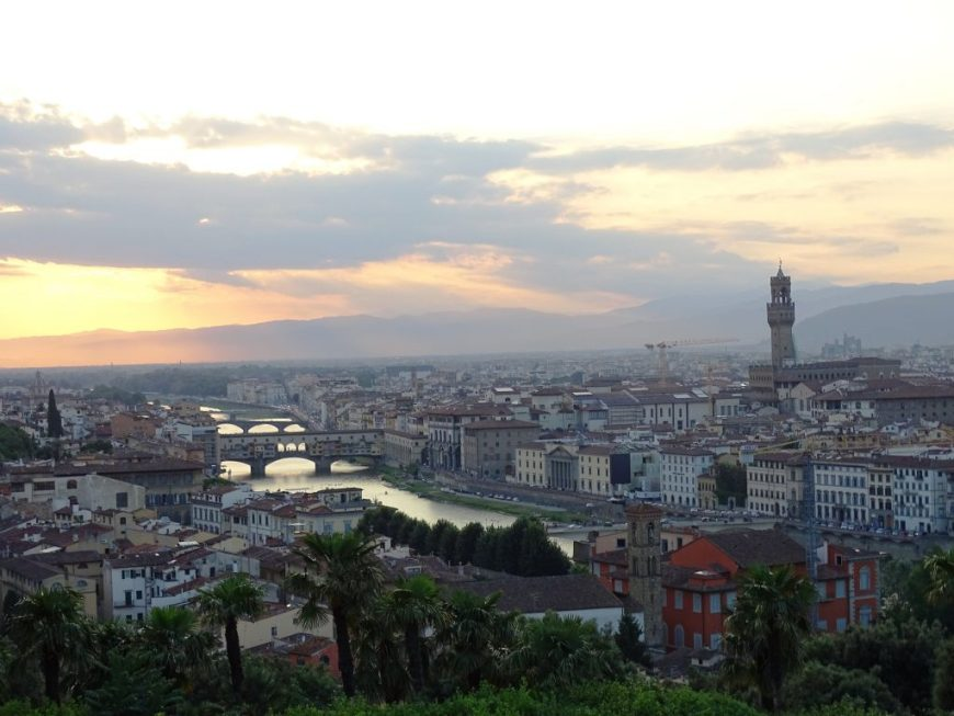 195861a113c The most romantic sunset that I have experienced so far is definitely the  sunset at Piazzale Michelangelo in Florence. The views of Florence s  skyline from ...