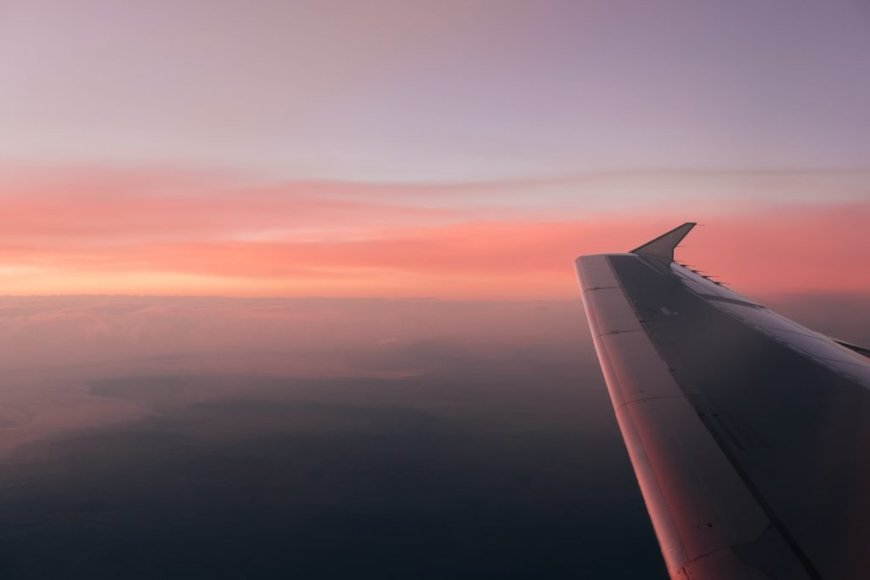 Sunset during flight