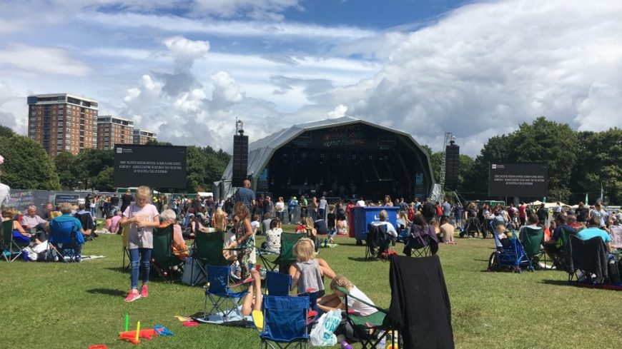 Sefton Park during Liverpool International Music Festival