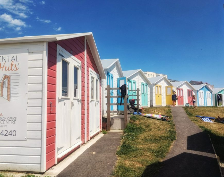 Beach Huts at Summerleaze Beach, Bude