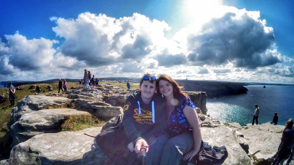 Justine and Scott at Tintagel, Cornwall