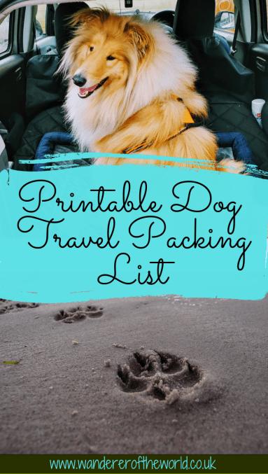 Pet Travel Essentials & Printable Dog Travel Packing List