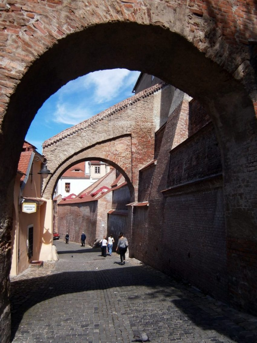The stairway passage between the Upper and the Lower Town of old Sibiu