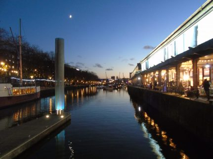 Bristol Harbour at night
