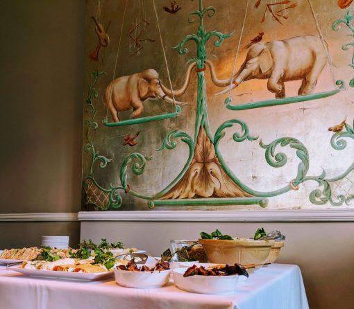 Elephant Mural at Cotswold Grange Hotel, Cheltenham