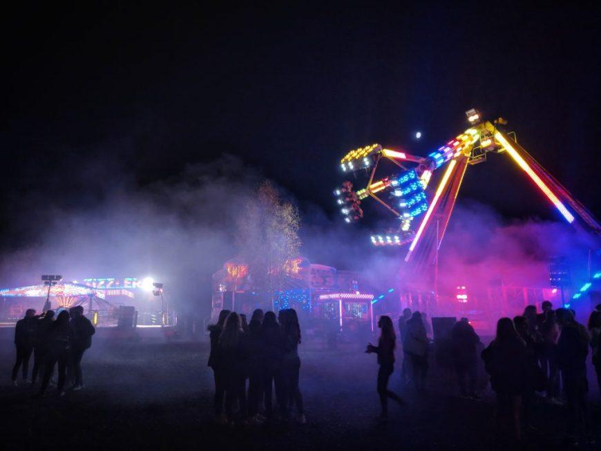 Fairground rides at Fear, Avon Valley
