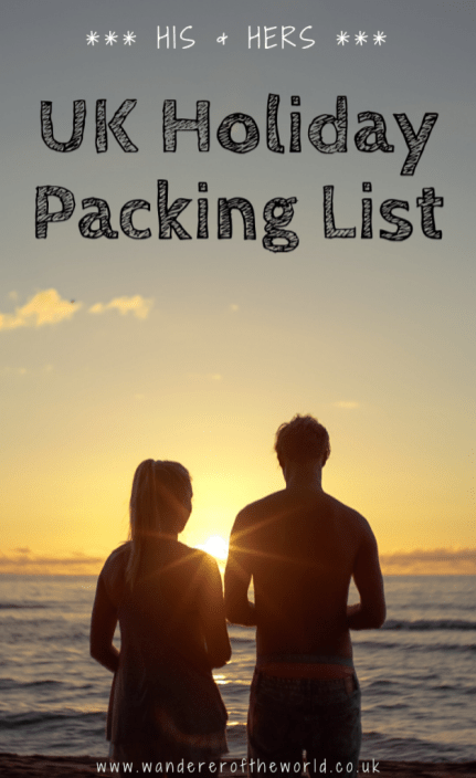 His & Hers UK Holiday Packing List: What To Wear in the UK