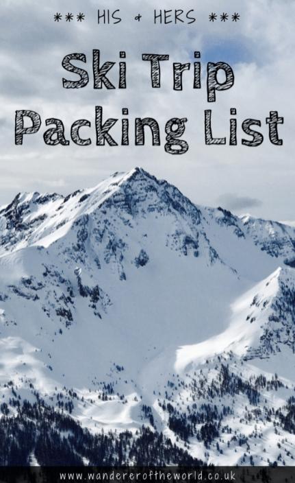 Printable Ski Trip Packing List: Skiing Essentials for Beginners