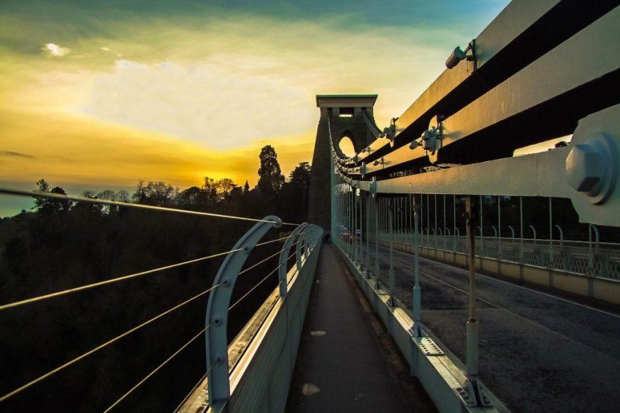 Clifton Suspension Bridge at night