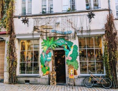 Brussels Street Art - Colourful Shopfront