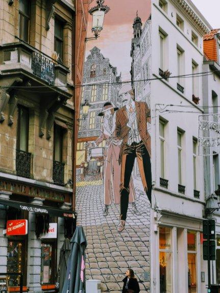 Brussels Comic Strip Mural: Victor Sackville