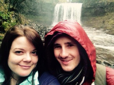 Justine & Scott at the Four Waterfalls Walk