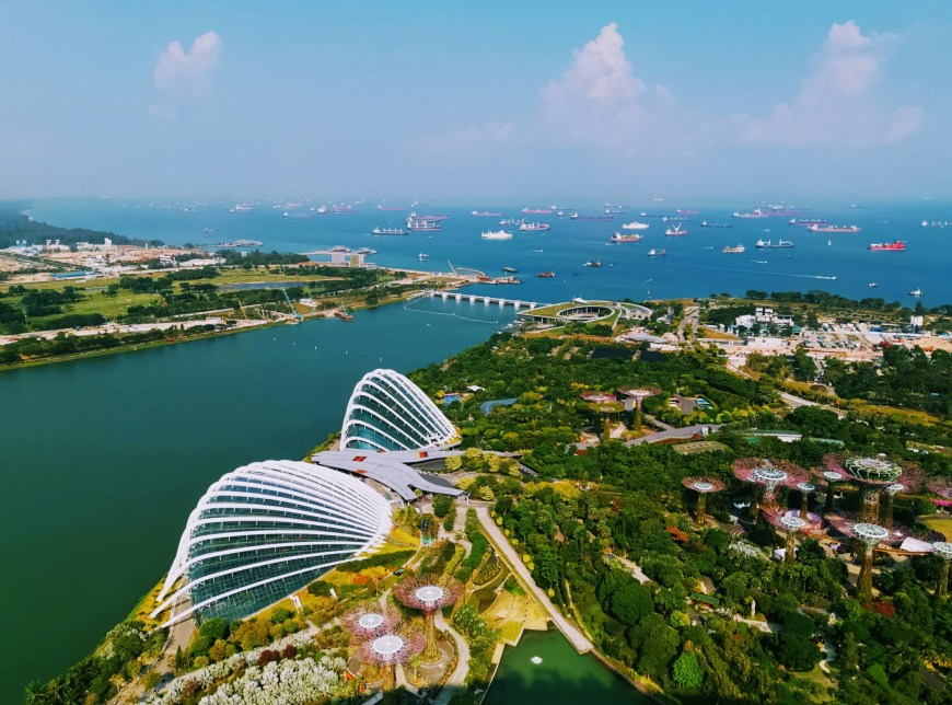 View from Marina Bay Sands Observation Deck in Singapore