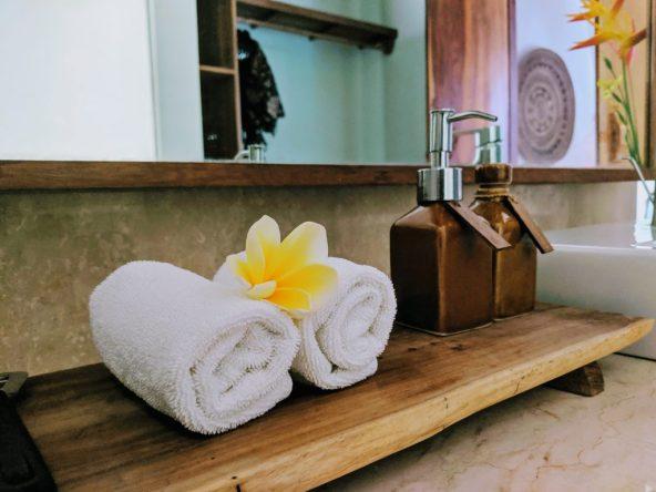 Spa towels in Bali