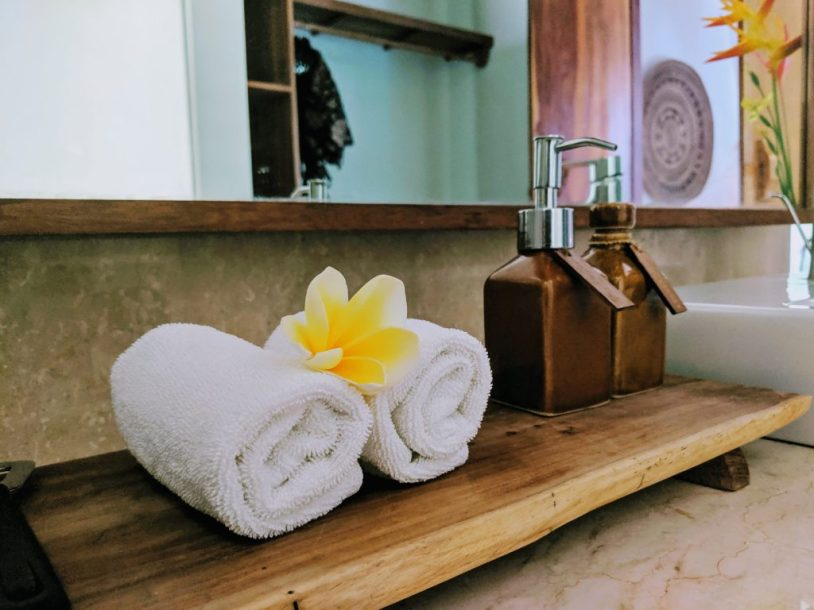 Spa towels in Bali