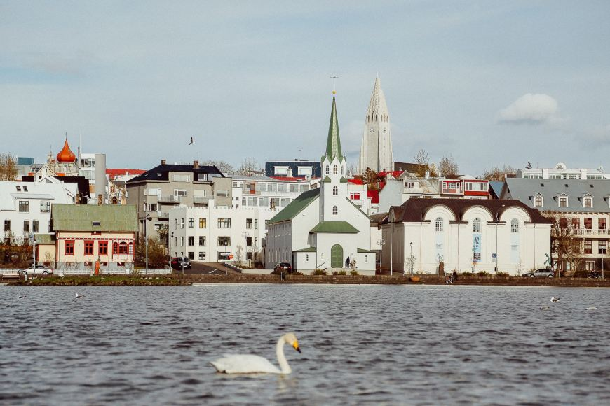 Views of Reykjavik from the water