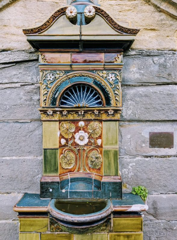 Historic drinking fountain in Clevedon, England
